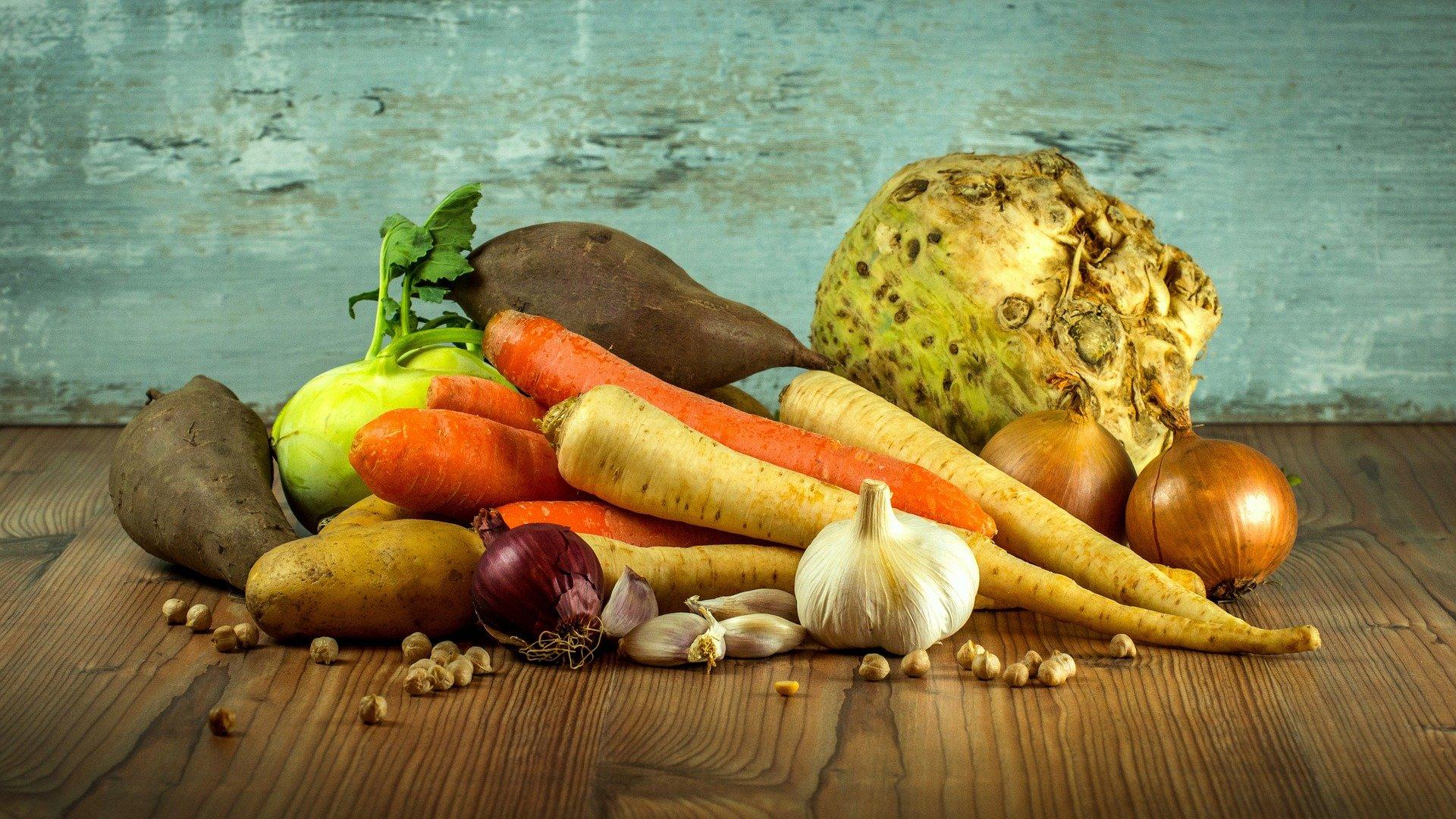 Milchsäurebakterien Vegan - frisches Gemüse