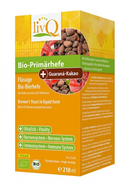 Bio-Primärhefe Guaraná-Kakao 14x15ml